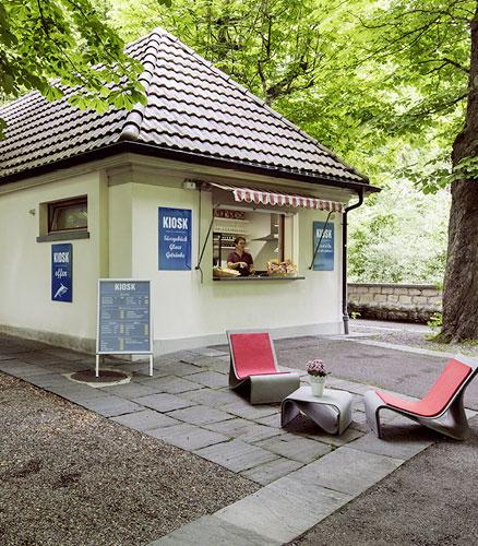 Kiosk des Tierpark-Restaurants