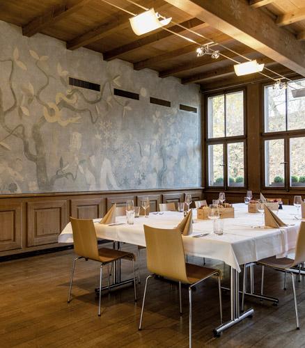 Gedeckter Meetingraum im Tierpark-Restaurant
